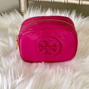 Tory Burch Stacked Patent Cosmetic Case